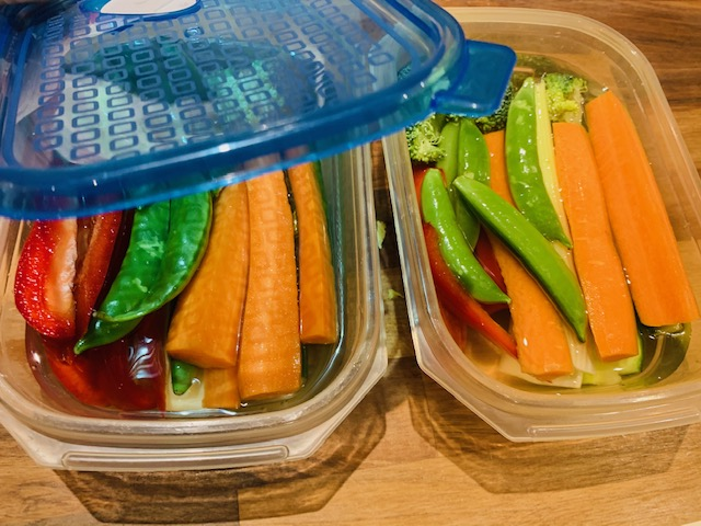 healthy snacks in Tupperware reduce snacking in lockdown